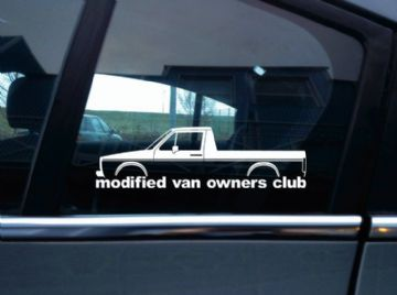 MVOC modified van owners club sticker - for VW Caddy mk1 Volkswagen | classic